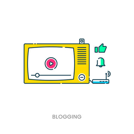 Template blogging infographics.
