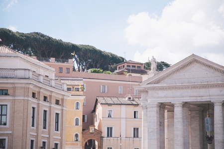 Buildings near Saint Peters basilica in Vatican