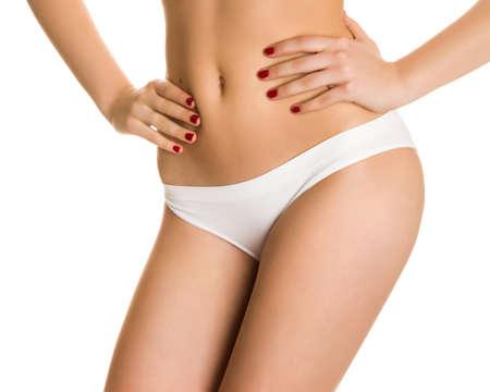 white panties: Sexy M�dchen in wei�en H�schen und eine sch�ne Manik�re