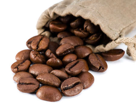 Coffee beans in a bag Stock Photo - 17977465