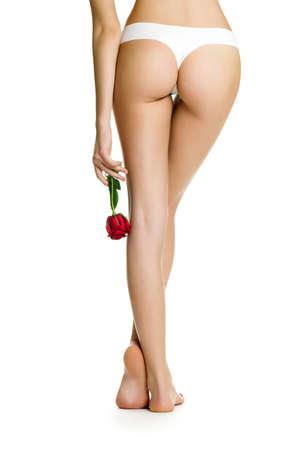 underwear girl: Beautiful women legs Stock Photo
