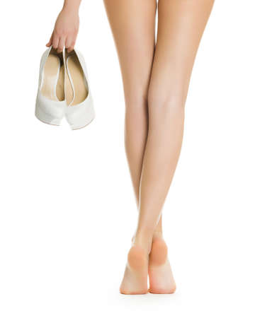 legs heels: Beautiful women legs Stock Photo