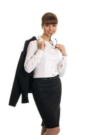 Businesswoman with glasses photo