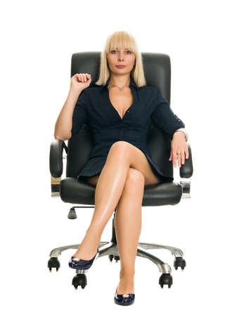 Businesswoman in Chair photo