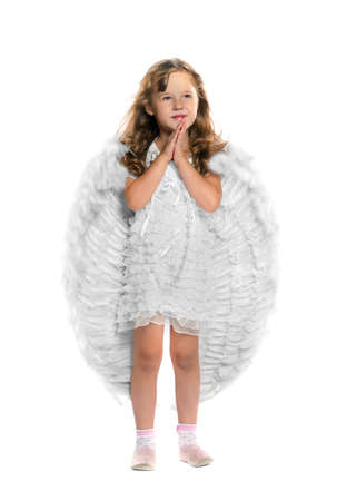 Little angel on a white background, isolated photo