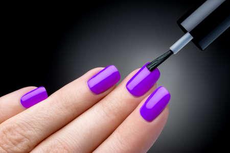 Beautiful manicure process photo