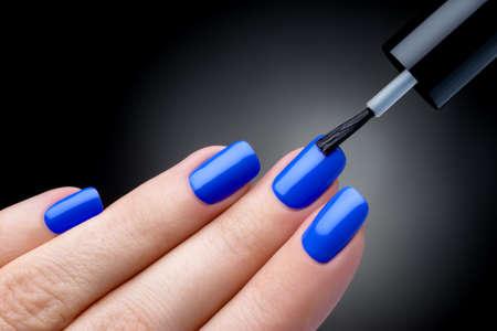 polish: Beautiful manicure process