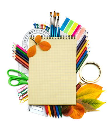 School and office supplies on white background  Back to school Stock Photo - 21775865