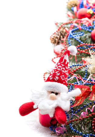 Christmas Decoration Over white Background photo