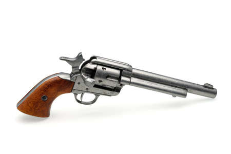 revolver pistol isolated on a white background photo