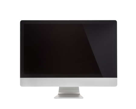 Computer Monitor, with blank screen  Isolated on white background