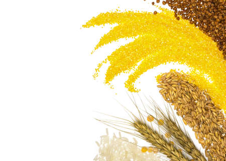 Cereals - maize ,wheat, buckwheat, millet, rye, rice and peas