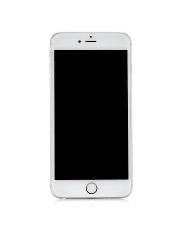 MOSKOU, RUSLAND - 4 oktober 2014: Nieuwe iPhone 6 Plus is een smartphone ontwikkeld door Apple Inc. Apple brengt de nieuwe iPhone 6 en iPhone 6 Plus Stockfoto - 32633493