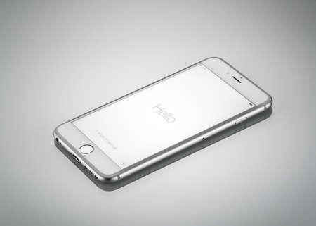 モスクワ, ロシア - 2014 年 10 月 4 日: 新しい iPhone 6 プラスは、アップル株式会社、アップルが開発したスマート フォンをリリース新しい iPhone 6 iphone  報道画像