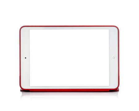 MOSCOW, RUSSIA - APRIL 12 , 2014: Photo of a brand iPad mini. iPad mini. is a tablet developed by Apple Inc.
