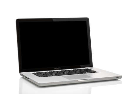 MOSCOW, RUSSIA - MAY 10 , 2014: Photo of a MacBook Pro. MacBook Pro is a laptop developed by Apple Inc. 報道画像