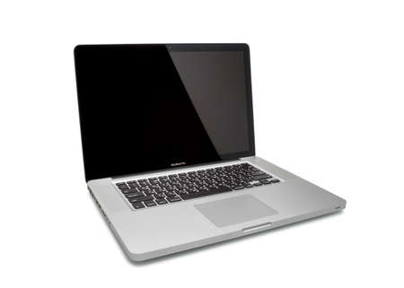 MOSCOW, RUSSIA - MAY 10 , 2014: Photo of a MacBook Pro. MacBook Pro is a laptop developed by Apple Inc.
