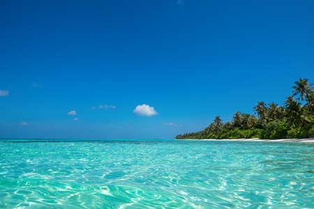 Perfect tropisch eiland paradijs strand Stockfoto