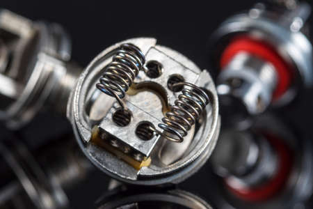 Multistrand Ribbon Fused Clapton on a dripper gold Stock Photo