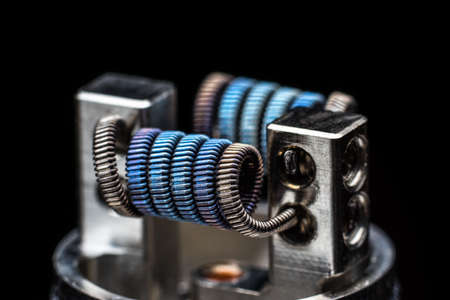 rta: Multistrand Ribbon Fused Clapton on a dripper gold Stock Photo