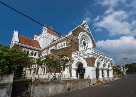 Colonial fine condition building development of the fort Galle on Sri Lanka. The photograph is presenting All Saints Church Editorial