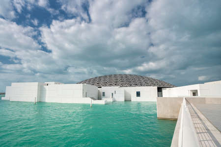 Abu Dhabi, United Arab Emirates, JANUARY 04, 2018: Louvre Abu Dhabi. View of the Louvre, showing the