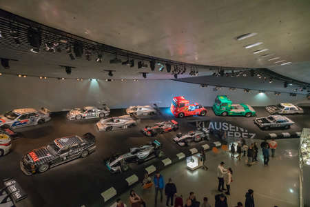 STUTTGART, GERMANY - DECEMBER 30, 2018: Interior of museum