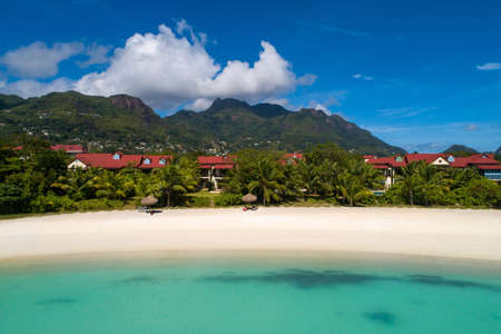 View of Eden Island Mahe Seychelles at sunny weather Stockfoto - 126288340