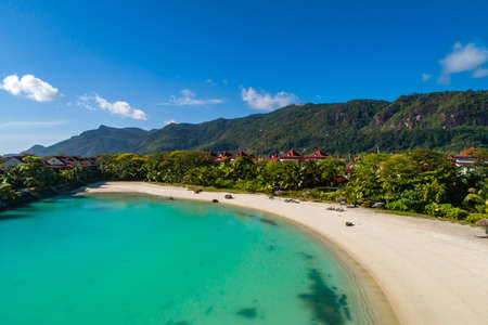 View of Eden Island Mahe Seychelles at sunny weather Stockfoto - 126288374