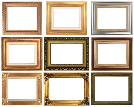 framed picture: Frame different isolated on a white background Stock Photo