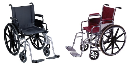 mobility nursing: Wheelchair isolated on white background