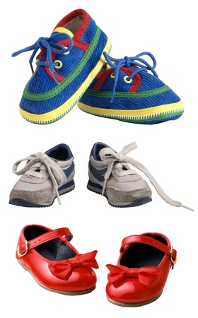 baby shoes: Childrens shoes isolated on white background