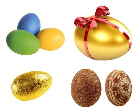 easteregg: Easter egg isolated on white background