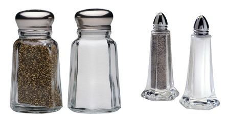 salt pepper: Salt and Pepper isolated on a white background