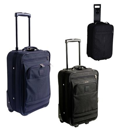 duffle: Rolling luggage isolated on white background