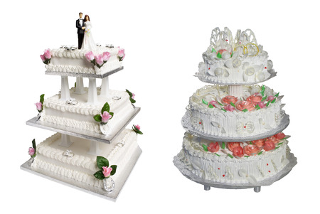 Wedding Cake isolated on white background photo