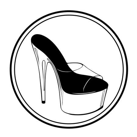 Pole dance stripper shoes vector illustration