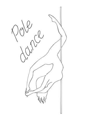 silhouette women pole dance black and white