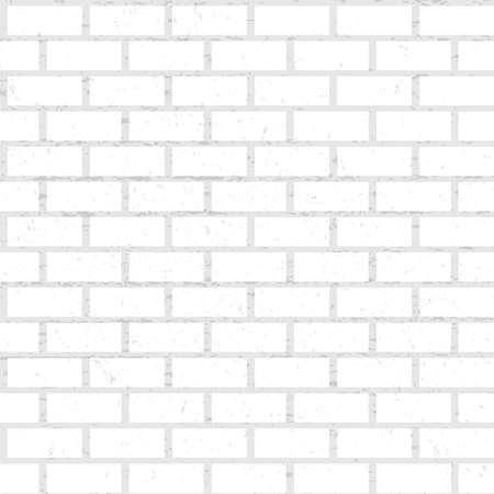 Seamless pattern of white brick wall with texture. Vector illustration for background, paper, design element, room decor. Vector Illustration