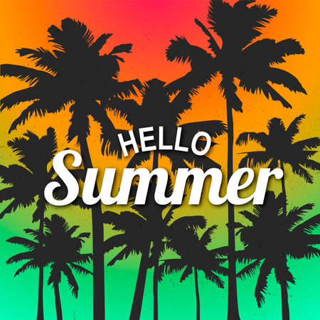 Hello Summer time wallpaper, fun, party, background, picture, art, design, travel, poster, event. Banque d'images - 122119599