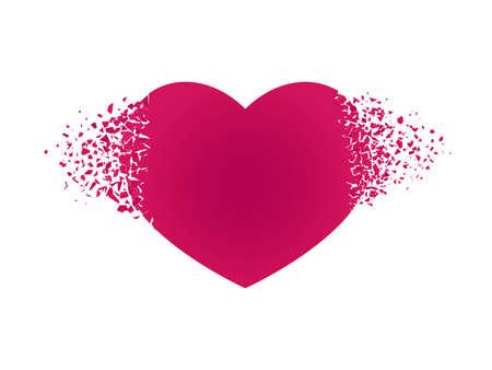 破片で心臓を爆発させる 孤立した赤