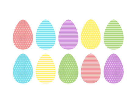 Decorative color egg with pattern isolated on white background.