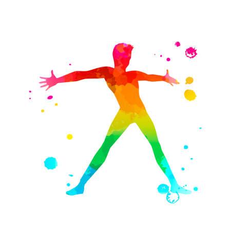 A male street dance hip hop dancer in silhouette Imagens - 141054172