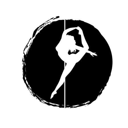 silhouette women pole dance exotic Imagens - 141481600