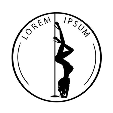 silhouette women pole dance exotic   black and white Imagens - 145075502