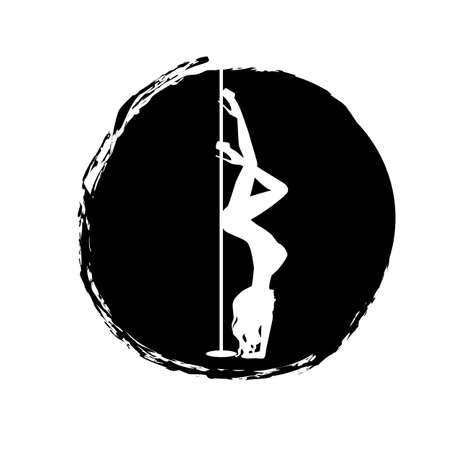 silhouette women pole dance exotic Imagens - 145075520