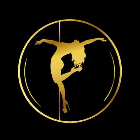 Gold icon for Dance studio, Pole dance, stripper club