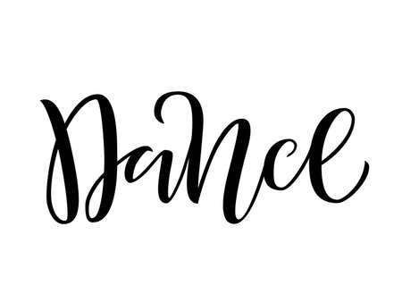 vector illustration of Handwritten brush lettering Dance