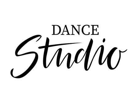 vector illustration of Handwritten brush lettering Dance Studio Ilustração