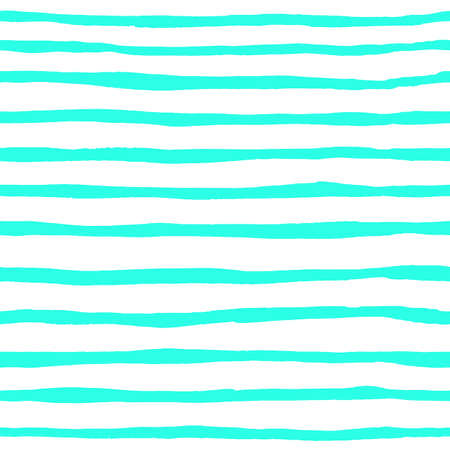 seamless pattern of horizontal watercolor cyan strips Imagens - 148319848
